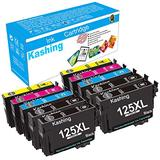 Kashing Remanufactured Ink Cartridge Replacement for Epson 125 T125 Used in Stylus NX125 NX127 NX230 NX420 NX530 NX625 Workforce 320 323 325 520 Printer(4 Black, 2 Cyan, 2 Magenta, 2 Yellow) 10 Pack