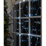 Touch Of ECO Solar Decor - White 42-LED Solar Window String Lights