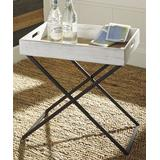 Signature Design by Ashley Furniture End Tables Antique - Distressed White Janfield Side Table