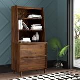 Mercury Row® Cutrer 2-Drawer Vertical Filing Cabinet Wood in Brown, Size 64.5 H x 29.38 W x 18.5 D in   Wayfair 8BC095C96CE249D3B949E69DE30C192A