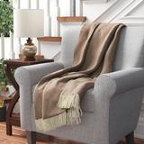 Latitude Run® Kaziah Herringbone Throw Cotton blend in Brown, Size 67.0 H x 51.0 W in | Wayfair DED0BFE01D354668BCFB996AACB1A3F1