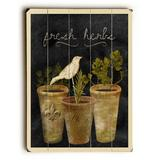 ArteHouse Decorative Plaques Multi - 'Fresh Herbs' Wood Wall Art