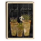 ArteHouse Decorative Plaques Multi - 'Fresh Flowers' Wood Wall Art