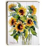 ArteHouse Decorative Plaques Multi - Glass Full of Sunflowers Wood Wall Art