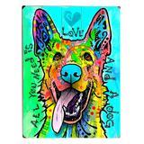ArteHouse Decorative Plaques Multi - 'Love & A Dog' Wall Art