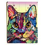 ArteHouse Decorative Plaques Multi - Dean Russo Maya Cat Wood Wall Art