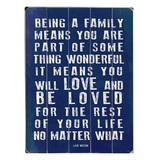 ArteHouse Wall Art Multi - Lisa Weedn 'Being a Family' Wood Wall Art