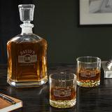 Darby Home Co Lenum Personalized 3 Piece Whiskey Decanter Set Glass, Size 10.75 H x 5.0 W in | Wayfair D661DD0D45864B89A66D184E9C5633A8
