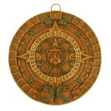 Ceramic wall art, 'Fifth Sun in Orange'