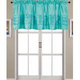 Ramallah Trading Company, Inc. Women's Curtain Valances Aqua - Aqua Nancy Pleated Valance
