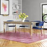 Etta Avenue™ Atlas Extendable Butterfly Leaf Dining Table Glass in Brown, Size 30.0 H in | Wayfair AD884DAE668E4B84A3DD85E41C252A51