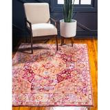 Bungalow Rose Glasser Oriental Red/Yellow Area RugPolyester in Brown/Red/Yellow, Size 72.0 H x 48.0 W x 0.25 D in | Wayfair