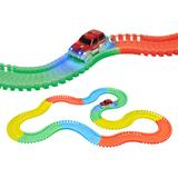 World Tech Toys Piece Glow Track with LED Light Car Set, Multicolor