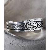 Moda Designs Women's Bracelets SILVER - Silvertone Celtic Knot Cuff
