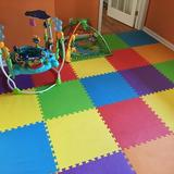 "FlooringInc kids Interlocking Foam Playmat, Foam in Red/Yellow/Purple, Size 24""H X 24""W | Wayfair 24xEcoSoftMulti"