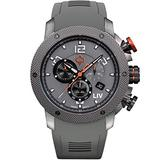 LIV Swiss Watches GX1 Swiss Analog Display Chronograph Casual Watch for Men; 45 mm Stainless Steel with Date Calendar; 660 feet Water-Resistant - Cool Gray