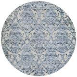 Ophelia & Co. Buehler Floral Area Rug Chenille/Polypropylene in Blue/Gray, Size 94.0 H x 0.16 D in | Wayfair 40A80F6F4FFA47B5A06C62C91A64827B