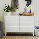 DaVinci Jayden 6 Drawer Double Dresser Wood in White, Size 32.0 H x 48.0 W in | Wayfair M5966W