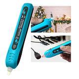 allsun Non Contact Voltage Detector Light Bulb & Fuse Tester 12-600 V AC Electric Tester Pen Christmas Light Bulbs Checker Sensitivity Adjustable Repairing Tool, Blue