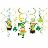 Amscan 48 Piece St. Patrick's Day Leprechaun Swirl Decorations Set in Green, Size 8.0 H x 7.0 W x 1.0 D in   Wayfair 670083