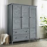 "Grain Wood Furniture Greenport Armoire, Wood in Brushed Gray, Size 21.5"" L x 59.6"" W x 74"" H | Wayfair GP0940"