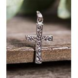 Willowbird Women's Pendants Silver - Sterling Silver Filigree Cross Pendant
