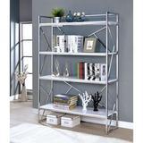 Mercer41 Maleah Standard Bookcase in Brown/Gray, Size 70.25 H x 48.0 W x 15.0 D in   Wayfair DAB318B340244C67A772E4F6B43ED1DE