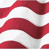 """The Party Aisle™ Flag Beverage 6.5"""" Paper Disposable Napkins Paper in Red 