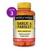 Mason Natural Vitamins & Supplements - 100-Ct. Garlic & Parsley Tablets - Set of Three