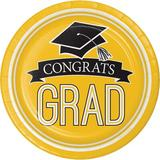 Creative Converting Graduation School Spirit Paper Dessert Plate Paper in Yellow/Black   Wayfair DTC320100DPLT