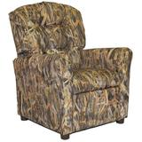 Zoomie Kids Cordle Timber Camo Kids Recliner Chair Upholstered in Brown, Size 29.0 H x 23.0 W x 25.0 D in | Wayfair