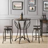 Williston Forge Carino 2 - Person Dining Set Wood/Metal in Brown/Gray, Size 41.0 H in | Wayfair E432609A2BD6460CADE72A6DE221A567