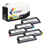 Smart Print Supplies Compatible 113R00726 113R00723 113R00724 113R00725 High Yield Toner Cartridge Replacement for Xerox Phaser 6180 Printers (Black, Cyan, Magenta, Yellow) - 5 Pack