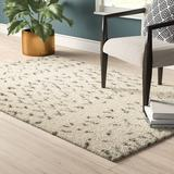 Union Rustic Aderhold Geometric Handmade Tufted Ivory/Grey Area Rug Cotton in White, Size 60.0 H x 36.0 W x 1.0 D in | Wayfair