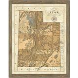 Vintage Print Gallery 'Map of Utah' - Picture Frame Graphic Art Print on Paper Paper in Brown, Size 30.0 H x 24.0 W x 1.0 D in | Wayfair 1433-42