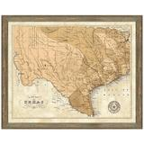 Vintage Print Gallery 'Map of Texas' - Picture Frame Graphic Art Print on Paper Paper in Brown, Size 24.0 H x 30.0 W x 1.0 D in | Wayfair 1433-41