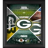 """""""Fanatics Authentic Green Bay Packers Framed 15"""""""" x 17"""""""" Team Impact Collage with a Piece of Game-Used Football - Limited Edition 500"""""""