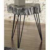 Signature Design by Ashley Furniture End Tables Antique - Silver Dellman Tree Ring Side Table