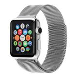 QRTZ Women's Watches silver - Silvertone Stainless Steel Band for Apple Watch