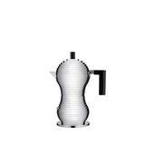 Alessi Pulcina Coffee Maker in Black, Size 7.87 H x 3.62 W x 7.87 D in | Wayfair MDL02/3 B