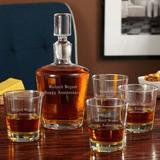 Darby Home Co Baranowski Personalized 5 Piece Whiskey Decanter Set Glass, Size 18.0 H x 14.0 W in | Wayfair 78CDBED0645C40A79E61DF1F4EC065A7