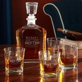 Darby Home Co Barbee Personalized 5 Piece Whiskey Decanter Set Glass, Size 11.0 H x 5.0 W in | Wayfair 73D54773446F404EB035614C86654016