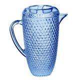 Ophelia & Co. Mira Diamond Cut 64 oz. Pitcher Plastic/Acrylic in Blue, Size 9.8 H x 4.8 W in | Wayfair B7414711806A46AD8C92BB7CAFB2B521