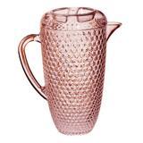 Ophelia & Co. Mira Diamond Cut 64 oz. Pitcher Plastic/Acrylic in Pink, Size 9.8 H x 4.8 W in | Wayfair 9CC1423AE88A451C8C06AA2E26628CC6