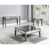 Rosdorf Park Brooklynn 3 Piece Coffee Table Set Wood/Glass in Brown/Gray, Size 18.0 H x 40.0 W in   Wayfair EA65865E507248C7B458C2C5D6812158