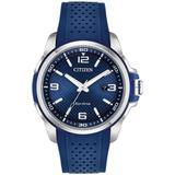 Men's Blue Polyurethane Strap Watch 45mm - Blue - Citizen Watches