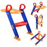 Sandinrayli Kids Toilet Potty Toddler with Ladder Trainer Seat Chair Toddler with Ladder Training Step Stools