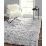 Pasargad Paris Shag Flatweave Cotton Gray Area Rug Polyester/Cotton in Gray/White, Size 168.0 H x 120.0 W x 0.25 D in   Wayfair PPSR-13121G 10x14