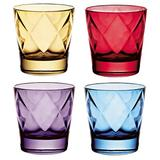 Winston Porter Earby 4-Piece 13 oz. Drinking Glass Glass in Blue/Red/Yellow, Size 3.75 H x 4.0 W in | Wayfair 04D7C4FF991A4C6BB306342FE91CDF43