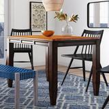 Millwood Pines Hidalgo Extendable Butterfly Leaf Acacia Solid Wood Dining Table Wood in Brown, Size 36.0 H in | Wayfair